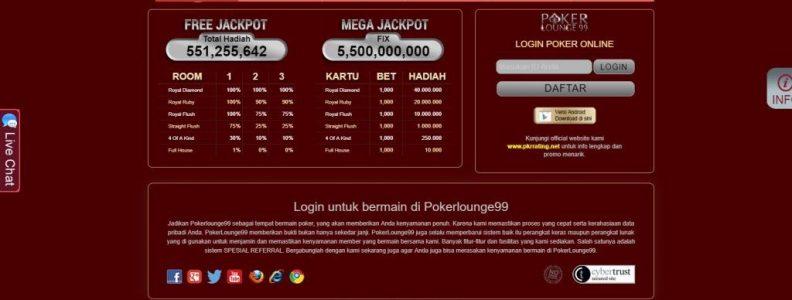 Tempat Bertaruh Terlengkap di Pokerlounge99 Asia